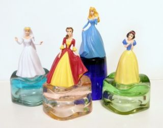 Cinderella, Belle, Aurora & Snow White 4 pc figure set new