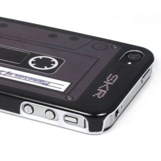 Audio Cassette Tape Design Hard Back Case Cover Skin For Apple iPhone