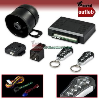 Key Chain Remote Controller Car Security Alarm System Kit