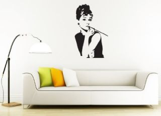 AUDREY HEPBURN XL Large Decor Removable Vinyl Decal WALL STICKER