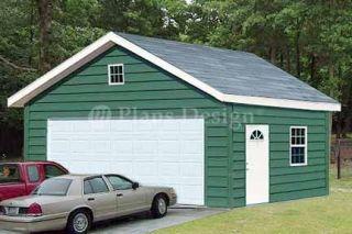 20 x 24 Two Car Garage Workshop Building Plans 52024