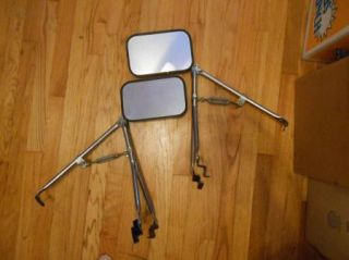 Vtg Temporary Fender Mount Chrome Car Truck Auto Towing Mirrors