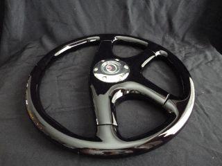 New 15 Black Mahogany Wood Grain Steering Wheel