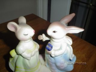 Avon Presidents Club Precious Moments Bunny Figurines