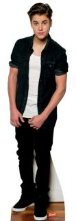 New Justin Bieber Lifesize Cardboard Standee Stand Up Licensed 1322