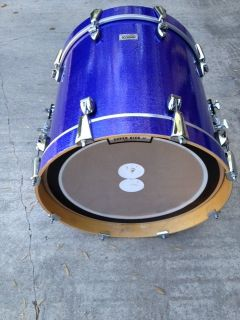 Ayotte Blue Purple 18 Maple Bass Drum