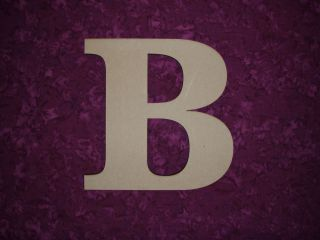 Unfinished Wood Letter B Wooden Letter Cut Out 3 8 MDF Wood 11 inch