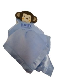 Security Blanket in Blue by Baby Essentials, New with Tags, 14 x 14