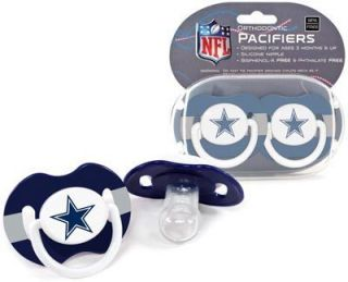 Cowboys Pacifiers 2 Pack Set Infant Baby Fanatic BPA Free NFL