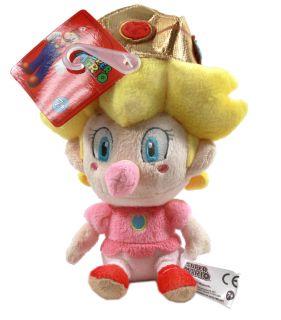 Brand New Global Holdings Super Mario Plush   5 Baby Peach Stuffed
