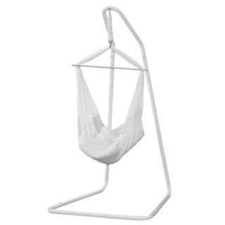 Baby Hammock Cradle Natural Swing White with Wooden Seperartor Cotton