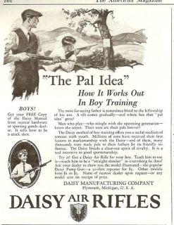 1926 Daisy Air Rifles Ad PAL Idea Boy Training 20s Gun
