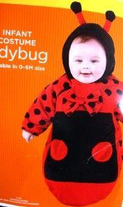 lady bug halloween costume velvety soft newborn size 0 3 6 months