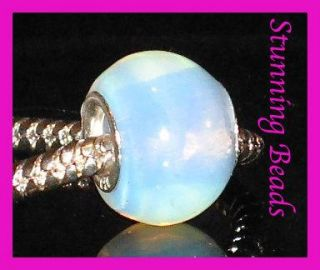 Genuine Moonstone 925 s Silver Bead Fit Charm Bracelet