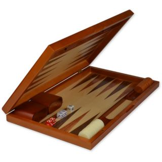 Backgammon Board Game Set with Inlaid Wood Set 19