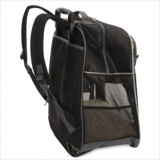 Sherpa Sport Pet dog Cat backpack carrier on wheels bag black