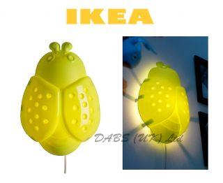 Ikea Smila Bagge Bug Bedroom Wall Lamp Baby Nursery Night Light