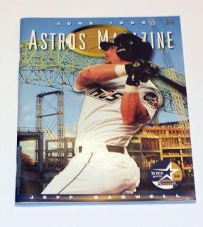 Jeff Bagwell Astros Magazine Game Program June 1999 Astrodome