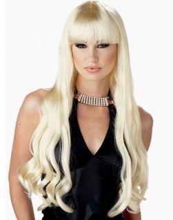 Blonde Long Wavy Curly Bang Serpentine Halloween Mermaid Costume Wig
