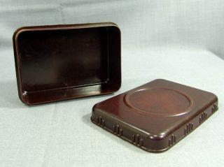 1930s Art Deco Bakelite Jewelry Trinket Box Photo Frame