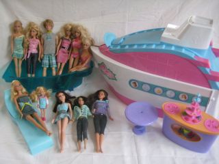 Barbie Party Cruise Ship Playset with Accessories and 11 Barbie Doll