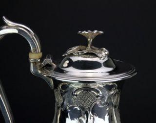 Georgian Solid Silver Coffee Po Barnard Brohers London C 1833