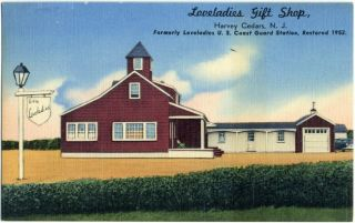 Loveladies Gift Shop Harvey Cedars Beach Haven NJ C 1950