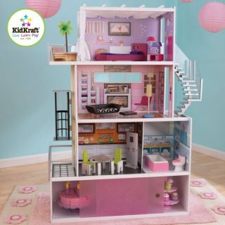 Beachfront Mansion Dollhouse Girls Pretend Play House 65385