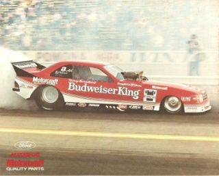Ford Tempo Funny Car Raymond Beadle Blue Max Mustang Funny Car