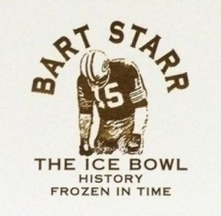 Bart Starr Signed Auto Goralski Packers Ice Bowl Lithograph Sports Art