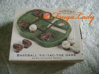 Desk Sports Accessory Mini Baseball Tic Tac Toe Game Ball Field
