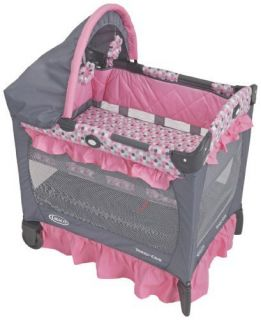 Graco Travel Lite Foldable Portable Crib with Bassinet Baby Nursery