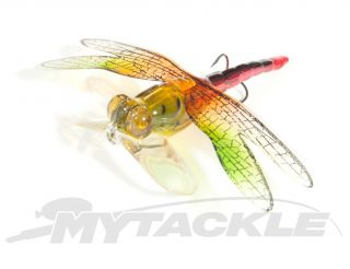 Bass Perch Cod Dragon Fly Surface Popper Fishing Lure Hard Body Mustad