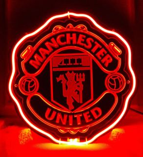 SB202 Manchester United FC Team British Soccer Football Display Neon