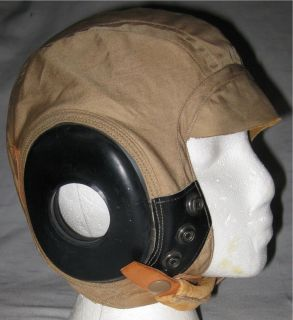 Vtg WWII US Army Air Force Pilot Helmet Bates Shoe Co