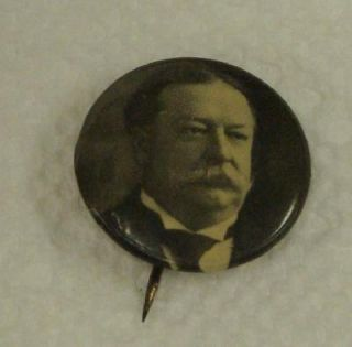 President William Howard Taft 7/8 Pinback Button pin Bastian Bros