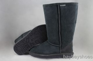 Bearpaw Emma 12 Tall Boot Charcoal Gray Sheepskin Suede Snow Winter