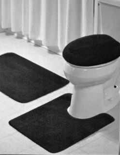 PC Bathroom Mat Rug Set Bath and Contour Rug Mat Toilet Seat Cover