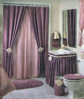 PATTERN to sew BATHROOM ESSENTIALS Shower Curtain Curtains UNCUT