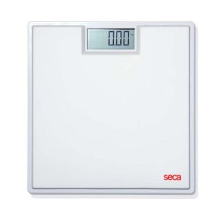 803 Clara Electronic Flat Bathroom Scale with Large LCD Numbers White