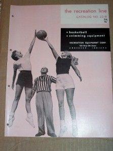 Vtg Recreation Equipment Catalog Playground Basketball