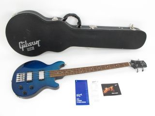 Gibson Les Paul Money Bass Guitar   Blue   w/ Hard Case