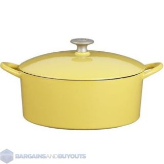 Mario Batali Cast Iron with Enamel Coating 6 Quart Dutch Oven in