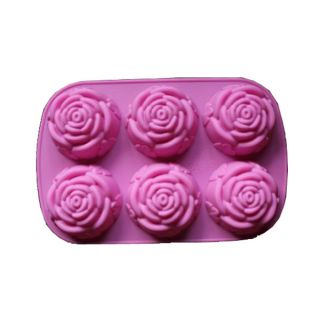 Rose Shape Cake Muffin Silicone Mold Mould Baking Ice Tray