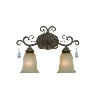 NEW 2 Light Bathroom Vanity Lighting Fixture, Roast Bronze, Painted