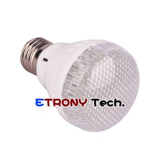 60 E27 2 0W White LED Energy Saving Light Bulb 220V R14