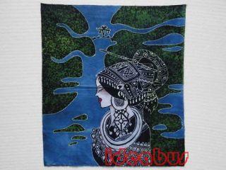 Chinese Art Handmade Batik Wax Dyed Tapestry GZA1015C07