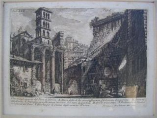 Antique Giovanni Battista Piranesi Veduta Engraving of Nerva from