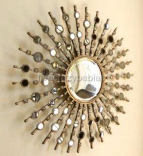 Extra Large Modern Silver Sunburst Starburst Wall Mirror XL Oversize