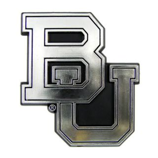 BAYLOR BEARS CHROME AUTO EMBLEM CAR STICKER SILVERTONE LOGO VEHICLE